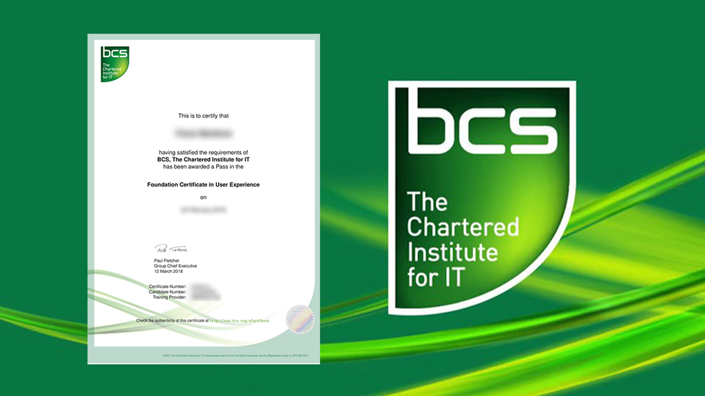 BCS Foundation Certificate In User Experience Course